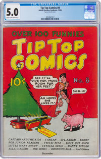 Tip Top Comics #8 (United Feature Syndicate, 1936) CGC VG/FN 5.0 Cream to off-white pages