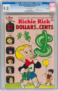 Richie Rich Dollars and Cents #31 File Copy (Harvey, 1969) CGC NM/MT 9.8 Off-white pages
