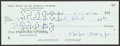 Autographs:Checks, Eppa Rixey Signed Check. Offered is a check signed...