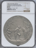 20th Century Tokens and Medals, 1909 Hudson-Fulton NY Silver Medal 102 mm, MS65 NGC. Celebration, Frederick S. Flower, #57. PCGS Popula...