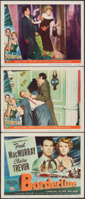 """Movie Posters:Crime, Borderline & Other Lot (Universal International, 1950). Overall: Very Fine-. Title Lobby Card & Lobby Cards (7) (11"""" X 14"""").... (Total: 8 Items)"""