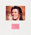 Music Memorabilia:Autographs and Signed Items, David Bowie Signature in a Matted Display....