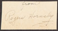 Autographs:Others, Rogers Hornsby Signed Cut Signature. Member of the...