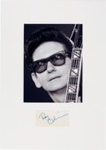 Music Memorabilia:Autographs and Signed Items, Roy Orbison Signature in a Matted Display....