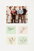 Music Memorabilia:Autographs and Signed Items, The Who Signature Set in a Matted Display....