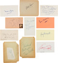 Movie/TV Memorabilia:Autographs and Signed Items, All About Eve Cast Autograph Collection (10) (1950). ...