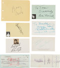 Movie/TV Memorabilia:Autographs and Signed Items, The Bells of St. Mary's Cast Autograph Collection (7) (1945). ...