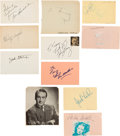 Movie/TV Memorabilia:Autographs and Signed Items, Captain Courageous Cast Autograph Co...