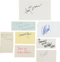 Movie/TV Memorabilia:Autographs and Signed Items, Dirty Harry Cast and Crew Autograph Collection (8) (1971). ...