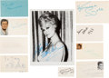 Movie/TV Memorabilia:Autographs and Signed Items, Gigi Cast Autograph Collection (10) (1958). ...