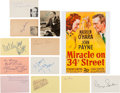 Movie/TV Memorabilia:Autographs and Signed Items, Miracle on 34th Street Cast Autograp...