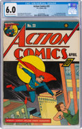 Action Comics #23 (DC, 1940) CGC FN 6.0 Cream to off-white pages