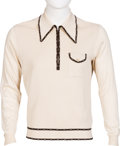 Music Memorabilia:Costumes, Keith Moon Fancy Knit Shirt With Zip-Up Front With Denim Waist Coat. ... (Total: 2 Items)