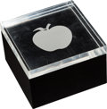 Music Memorabilia:Memorabilia, The Beatles Apple Lucite Paperweight Trinket Bo...