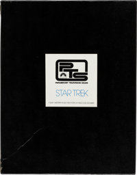 Star Trek Original TV Series Press Kit With Summary, Photos, Color Slide, and Typed Letter