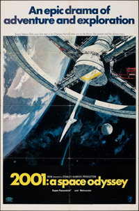 """2001: A Space Odyssey (MGM, 1968). Folded, Very Fine-. One Sheet (27"""" X 41""""). Style A, Robert McCall Artwork..."""
