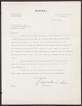 Autographs:Letters, 1931 Kenesaw Mountain Landis Signed Letter. The ma...