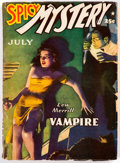 Pulps:Horror, Spicy Mystery Stories - July 1942 (Culture) Condition: VG/FN....