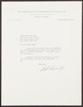 Autographs:Letters, 1953 Will Harridge Signed Typed Letter. The AL's ...