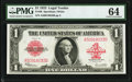 Fr. 40 $1 1923 Legal Tender PMG Choice Uncirculated 64
