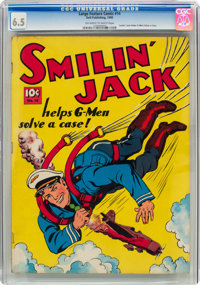 Large Feature Comic (Series I) #14 Smilin' Jack (Dell, 1941) CGC FN+ 6.5 Off-white to white pages