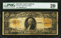 Large Size:Gold Certificates, Fr. 1187* $20 1922 Gold Certificate PMG Very Fine 20.. ...