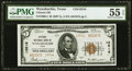 Waxahachie, TX - $5 1929 Ty. 2 Citizens National Bank Ch. # 13516 PMG About Uncirculated 55 EPQ