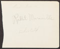 Autographs:Index Cards, Rabbit Maranville Signed Index Card. Offered is a...