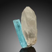 "Beryl var. Aquamarine on Quartz ""V"" Shigar District Gilgit-Baltistan Pakistan</... (Total: 2)"