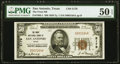 San Antonio, TX - $50 1929 Ty. 1 The Frost National Bank Ch. # 5179 PMG About Uncirculated 50 EPQ.<