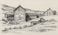 Works on Paper, Eric Sloane (American, 1905-1985). New England White, Pennsylvania, Barn near Kent Connecticut, and Continuous Archite... (Total: 4 Items)