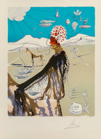 Salvador Dalí (Spanish, 1904-1989) The Earth Goddess, 1980 Lithograph in colors on Arches paper 2