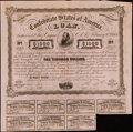 Confederate Notes:Group Lots, Ball 252 Cr. UNL $1,000 1863 Bond Two Examples Fine.. ... (Total: 2 items)