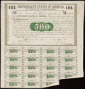 Confederate Notes:Group Lots, Ball 6 Cr. 7 $500 1861 Bond Two Examples Very Fine.. ... (Total: 2 items)