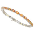 Estate Jewelry:Bracelets, Multi-Color Sapphire, White Gold Bracelet . ...