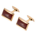 Estate Jewelry:Cufflinks, Carnelian, Gold Cuff Links, Wempe. ...