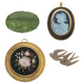 Estate Jewelry:Brooches - Pins, Multi-Stone, Seed Pearl, Gold Brooches. ... (Total: 4 Items)