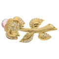 Estate Jewelry:Brooches - Pins, Multi-Stone, Diamond, Gold Brooch, Judith Ripka . ...