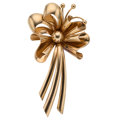 Estate Jewelry:Brooches - Pins, Retro Rose Gold Brooch . ...