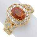 Estate Jewelry:Rings, Spessartine, Diamond, Gold Ring . ...