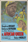 """Movie Posters:Adventure, The African Queen (Romulus, R-1950s). Rolled, Very Fine-. British Silk Screen One Sheet (27"""" X 40""""). Adventure.. ..."""