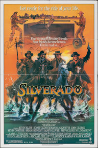 "Silverado (Columbia, 1985). Folded, Fine/Very Fine. Autographed One Sheet (27"" X 41""). Bob Peak Artwork. Weste..."