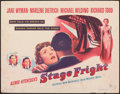 """Movie Posters:Hitchcock, Stage Fright (Warner Bros., 1950). Rolled, Fine+. Half Sheet (22"""" X 28""""). Hitchcock.. ..."""
