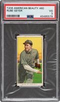 Baseball Cards:Singles (Pre-1930), 1909-11 T206 American Beauty 460 Rube Geyer PSA VG 3 - Only Twelve PSA-Graded Examples....