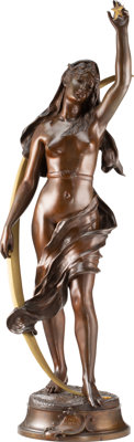 After Henri Louis Levasseur (French, 1853-1934) Etoile du Berger Bronze with brown patina 36-3/8