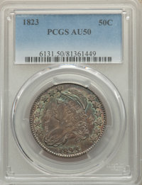 1823 50C AU50 PCGS. PCGS Population: (127/579). NGC Census: (36/385). CDN: $425 Whsle. Bid for NGC/PCGS AU50. Mintage 1...