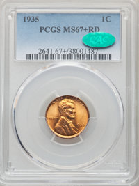 1935 1C MS67+ Red PCGS. CAC. PCGS Population: (556/10 and 84/1+). NGC Census: (578/2 and 3/1+). CDN: $180 Whsle. Bid for...