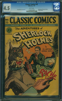 Classic Comics 33 First Edition (Gilberton, 1947) CGC VG+ 4.5 White pages