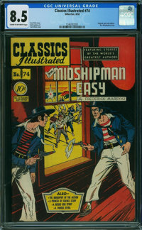 Classics Illustrated 74 First Edition - ORIGINAL & ONLY EDITION (Gilberton, 1950) CGC VF+ 8.5 Cream to off-white pag...