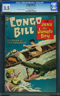 Congo Bill #2 (DC, 1954) CGC VG- 3.5 Cream to off-white pages